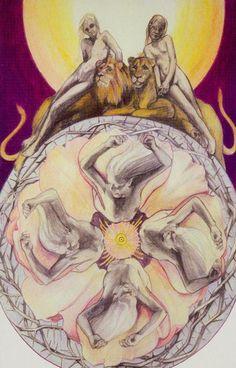 XI. StrengthXV. The Devil - Via Tarot by Susan Jameson, John Bonner