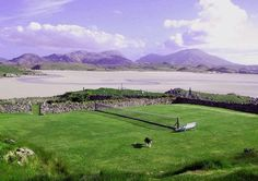 Lawn tennis with a view