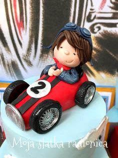 Formula boy cake topper by Branka Vukcevic
