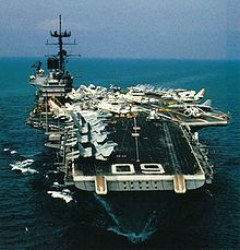 USS Saratoga CV 60. I was onboard with VF-74, CVW-17, from 12-84 to 4-88. I was an F-14A Plane Captain. Two Mediterranean deployments; also time in the Indian Ocean.