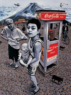 Awesome Contemporary Chinese Art - Zhong Biao: China photos) - My Modern Metropolis Chinese Contemporary Art, Contemporary Paintings, Modern Art, Coca Cola, Chinese Painting, Chinese Art, Coke, Art Chinois, Art Asiatique