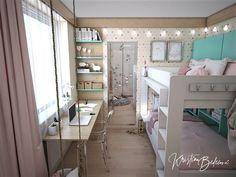 Návrh interiéru bytu Romantika v akcii, pohľad do detskej na stolík a zrkadlo Loft, Furniture, Home Decor, Nostalgia, Decoration Home, Room Decor, Lofts, Home Furnishings, Home Interior Design