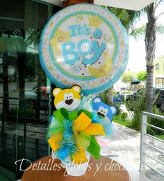 "Baby Shower ""Detalles globos y chocolates"" Baby Balloon, Balloon Gift, Balloon Arrangements, Balloon Decorations, Fun Crafts, Diy And Crafts, Best Gift Baskets, Balloons And More, Baby Girl Accessories"