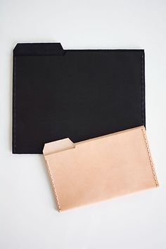 DIY Leather File Folders