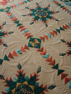 This quilting adds so much interest to the design.