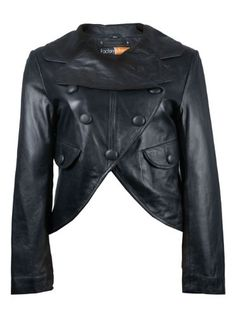 FactoryExtreme Sirocco Womens Black Leather Jacket, XXX-Large, Black *** Click on the image for additional details.