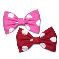c96ce9070bf1 Red Polka Dot Hair Bow