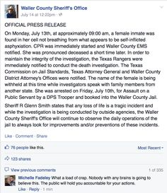 Texas county where Sandra Bland died is fraught with racial tensions Police Brutality In America, Texas County, Mother Jones, Sheriff, Social Justice, Screen Shot, Blood, Politics