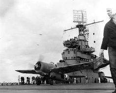 F4F-4 Wildcat taking off from USS Ranger, North Africa, 8 Nov 1942. (US National Archives)