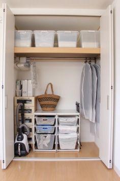 IKEAのALGOTシリーズの棚で服をたっぷり収納