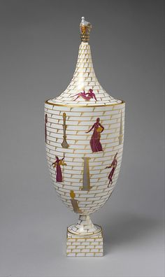 """La passeggiata Archaeologica"" (An Archeological Stroll) covered urn by Gio Ponti (in The Metropolitan Museum of Art)"