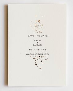 paige collection gold foil and letterpress wedding save the date simple wedding invitationsletterpress