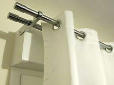 pour cacher le coffre du volet roulant rideaux embrasses. Black Bedroom Furniture Sets. Home Design Ideas