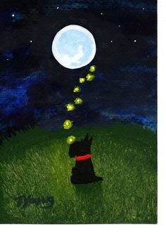 Scotty Scottie dog modern folk art PRINT of Todd by ToddYoungArt, $13.50