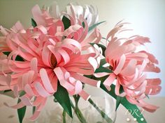 fiori/fiore di carta-crisantemi: facili, come realizzare, costruire, creare, fare-tutorial