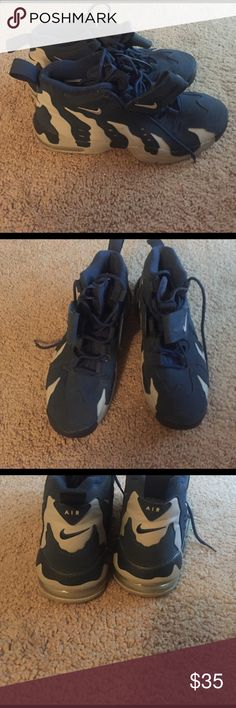 Nike Blue and Gray hi top tennis shoes Lightly worn ...sole missing Nike Shoes Sneakers