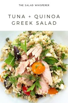 This is a truly satisfying salad on its own, but also great with grilled meat, fish, or high quality jarred tuna (here I used Tonnino brand tuna in olive oil).