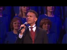 """Mormon Tabernacle Choir with Brian Stokes Mitchell, singing """"The Friendly Beasts"""".  I LOVE this song!! It makes me smile, laugh and at the end...cry.   I was lucky enough to be there for this performance."""