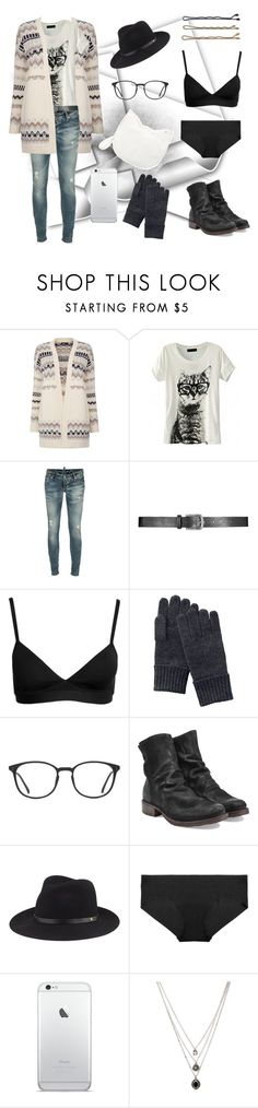 """""""Cute cat"""" by hunnihex ❤ liked on Polyvore featuring Warehouse, Dsquared2, Guide London, Björn Borg, Uniqlo, GlassesUSA, Fiorentini + Baker, rag & bone, Commando and Forever 21"""