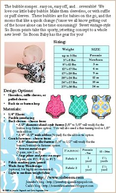 Printable Baby Romper Pattern | ... Patterns » SisBoom » Sis Boom Carly Bubble Romper E-Pattern