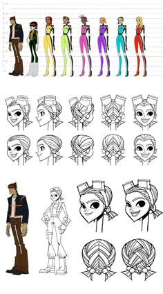 Artes de Motorcity, do Disney XD (post Character Model Sheet, Character Modeling, Character Concept, Character Art, Concept Art, Character Design Animation, Female Character Design, Character Design References, Cartoon Sketches