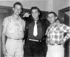 Delton Simmons, Elvis and Jay Thompson in Breckenridge, TX - June 10, 1955 Photo courtesy Steve Bonner