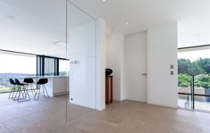 Open space with glass