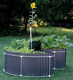 keyhole gardening without rocks...