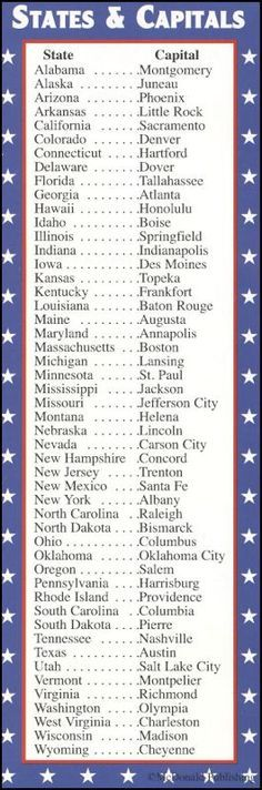 States & Capitals/Presidents Bookmark. Seeing this reminds me of my mom. She helped me create a little song for each state & capital. I can still remember a few. Louisiana was done to the tune of the Mickey Mouse Song.
