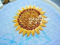 Tutorial-sunflower embroidery