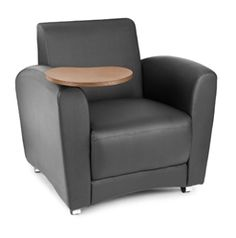 This tablet arm lounge chair with wheels will help improve the guest waiting experience for just $429.99.
