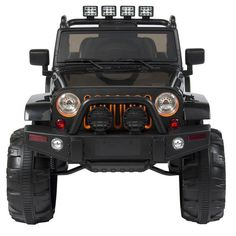 product descriptionBest Choice Products presents this new Ride-On Jeep Style SUV Car. Perfect for 1 child, ages 3-8 years, this ride-on can be operated by foot pedal accelerator and steering wheel. Attractive and fun design features a non-toxic plastic body and LED lights. 12V (2*6V) motor feature high, medium and low speed option to reach a maximum speed of 5 MPH. Enjoy a fun sing-along by playing the built-in musical tunes, or plug in your own playlist with an included AUX cord. Includes a…