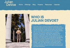 Julian DeVoe is #WordPress #responsive website also have #blog