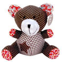 Trend Lab Patchwork Bear Stuffed Toy, Chocolate Kiss Trend Lab http://www.amazon.com/dp/B00881DVDQ/ref=cm_sw_r_pi_dp_t0Prvb16ANM1D
