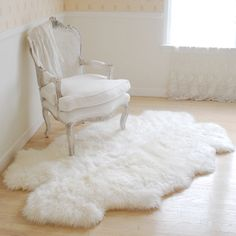 Sheepskin throw rug... my feet would be resting on a fluffy cloud every time.