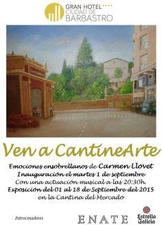 Cartel exposición Camen Llovet. Ven a CantineArte