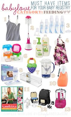 Here are some of my favorite items for feeding baby! This list is a bit longer because of the fact that I both nursed and formula fed (Short version: Scarlette was born premature, I pumped for five and a half months, we found out that she was allergic to breastmilk, I donated a batrillion bottles …