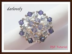 Silver Purple Metal Flower Ring - via @Craftsy