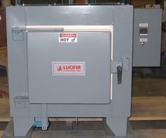 Great little heat treating box furnace as a bench model for small batches/light loads. Simple-Safe-Dependable. Lucifer Furnaces 7000 Series www.luciferfurnaces.com Heat Treating, Filing Cabinet, Bench, Storage, Box, Simple, Model, Furniture, Home Decor