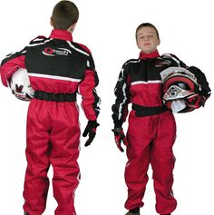 GO - Kart One Piece RACE SUIT Overalls by Qtech Karting Quilted Polycotton - RED | eBay