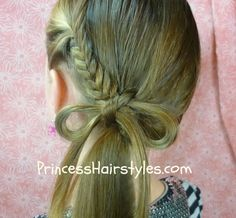 Pinterest hairstyle how to, fishtail braid bow
