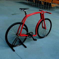 This fixed-gear commuter bike is a piece of art