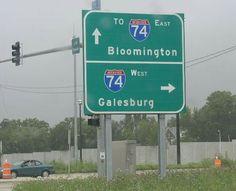 A BGS on SB Illinois State Route 40 at Peoria, Illinois