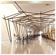 24 lignes, composées de 24 travées, créées par 1024 Architecture et Stéphane Grimaud, est une installation artistique réalisée pour l'accuei...