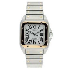 Cartier santos 100-automatic gents watch.