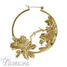 Gold Plated Flower Hoop