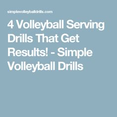 4 Volleyball Serving Drills That Get Results! - Simple Volleyball Drills
