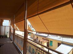 Doppia tenda a capanno personalizzata per terrazzo tende da