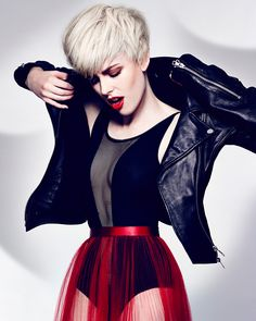 A rough cut platinum pixie to die for. This classic short haircut gets a breath of new life from Hoop Haircutters: https://industrieonline.com/clacton-rock-hoop-haircutters/?utm_campaign=coschedule&utm_source=pinterest&utm_medium=Industrie&utm_content=Clacton%20Rock%20by%20Hoop%20Haircutters