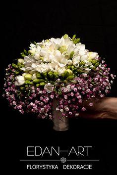 Bukiety Olsztyn, ślub, biało-różowy, frezja, gipsówka, #bukiet